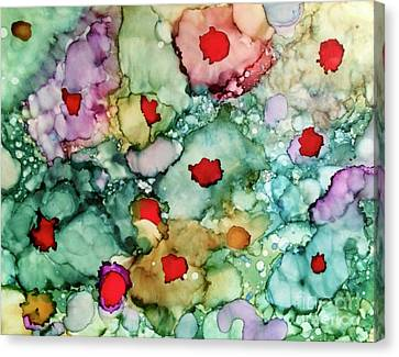 Canvas Print featuring the painting Think Spring by Denise Tomasura