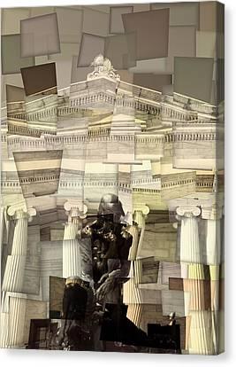 Thinker Cleveland Museum Of Art Cubism Canvas Print