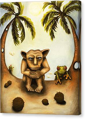 Thinking About Coconuts Canvas Print by Leah Saulnier The Painting Maniac