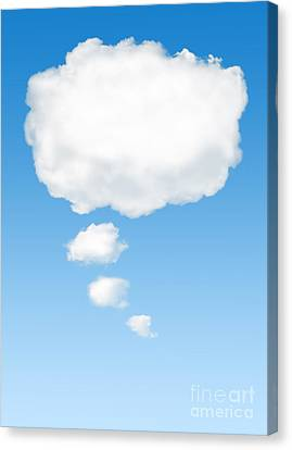 Chat Canvas Print - Thinking Cloud by Carlos Caetano