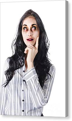 Youthful Canvas Print - Thinking Dead Businesswoman by Jorgo Photography - Wall Art Gallery