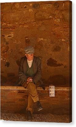 Thinking Of The Lotto Canvas Print by Jez C Self