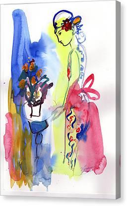 Thinking Of Tonight Canvas Print