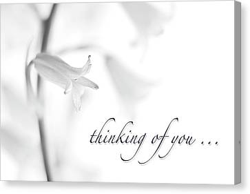 Thinking Of You Notecard Canvas Print by Carol Leigh