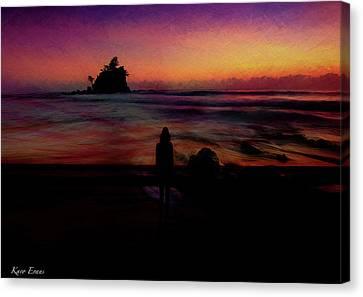 Thinking2f Canvas Print by Karo Evans