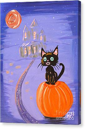 Things I Like Best At Halloween Canvas Print by Phyllis Kaltenbach