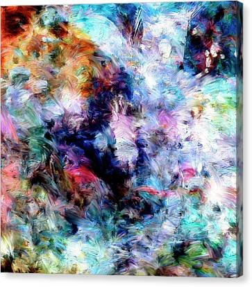 Canvas Print featuring the painting Third Bardo by Dominic Piperata