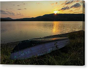 Canvas Print featuring the photograph Third Connecticut Lake  by Juergen Roth