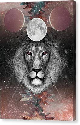 Third Eye Lion Vision Canvas Print by Lori Menna