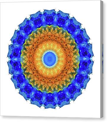 Third Eye Mandala Art By Sharon Cummings Canvas Print