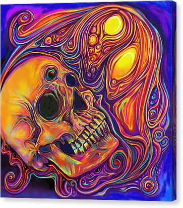 Third Eye Sunrise Canvas Print by Julianne Black