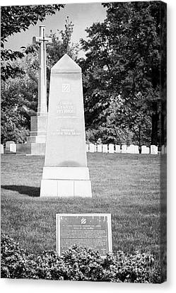 third infantry division memorial arlington cemetery Washington DC USA Canvas Print