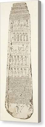Third Side Of Obelisk, Illustration From Monuments Of Nineveh Canvas Print by Austen Henry Layard