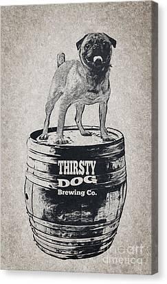 Thirsty Dog Brewing Co. Keg Canvas Print by Edward Fielding