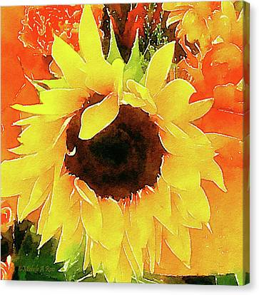 This Ain't No Mellow Yellow Canvas Print by Michele Ross