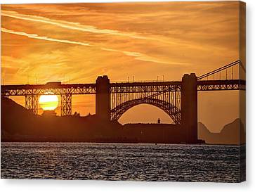 Canvas Print featuring the photograph This Bridge Never Gets Old by Peter Thoeny