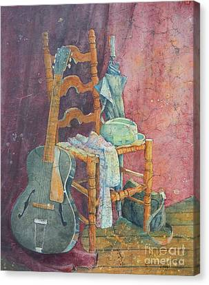 This Gibson Came To Play Canvas Print by Sarah Luginbill