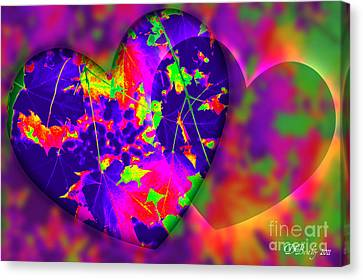 This Hearts For You Canvas Print by Donna Bentley