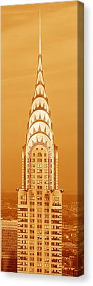 Chrysler Building Canvas Print - Chrysler Building At Sunset by Panoramic Images