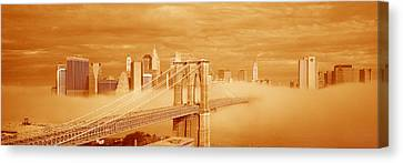 This Is A Sepiatone Of The Brooklyn Canvas Print
