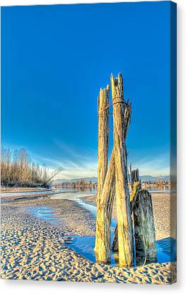 This Is British Columbia No.43 - Frost On The Fraser Canvas Print by Paul W Sharpe Aka Wizard of Wonders