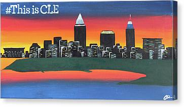 This Is Cle Canvas Print by Cyrionna The Cyerial Artist