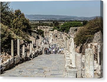This Is Ephesus Canvas Print by Kathy McClure