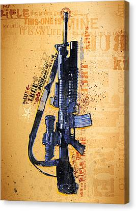 This Is My Rifle Riflemans Creed Canvas Print by Jeff Steed