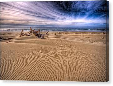 This Is Oregon State No.17 - Florence Beach Canvas Print by Paul W Sharpe Aka Wizard of Wonders
