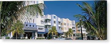 This Is The Art Deco District Of South Canvas Print by Panoramic Images
