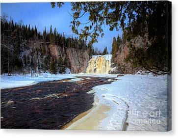 This Is The High Falls Of The Baptism River Tettegouche State Park Minnesota. Canvas Print