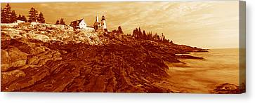 This Is The Pemaquid Point Lighthouse Canvas Print by Panoramic Images