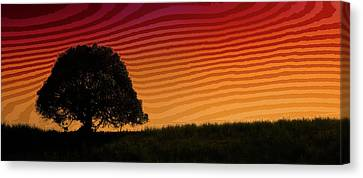 This Is The Philippines No.11 - Mango Tree Sunset Canvas Print by Paul W Sharpe Aka Wizard of Wonders