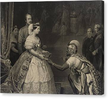 Religious Canvas Print - This Is The Secret Of England's Greatness by Thomas Jones Barker