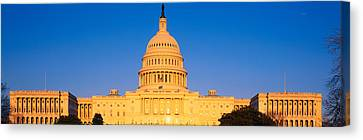 This Is The U.s. Capitol At Sunset. It Canvas Print by Panoramic Images
