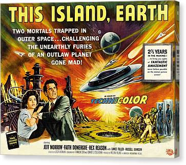 This Island Earth, Faith Domergue, Rex Canvas Print by Everett