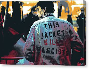 This Jacket Kills Fascists Canvas Print by Shay Culligan