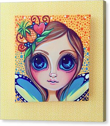 Fantasy Canvas Print - This Little Faery Cutie Today Flew Into by Jaz Higgins