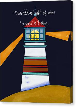 This Little Light Of Mine Canvas Print by Glenna McRae
