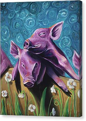 This Little Piggy Canvas Print by Julie Fernandez