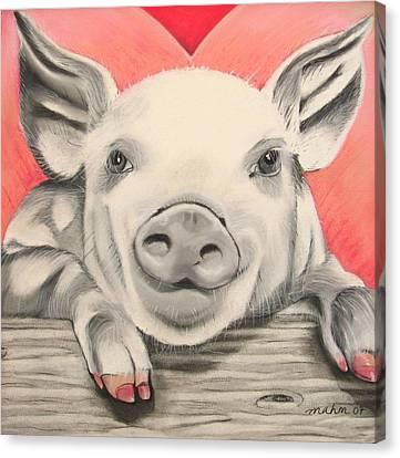 This Little Piggy... Canvas Print by Michelle Hayden-Marsan