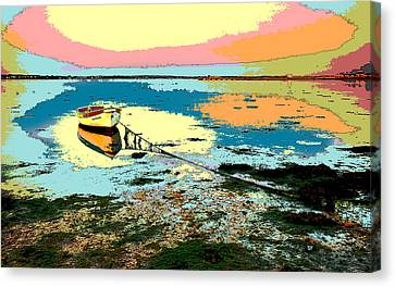 Sun Rays Canvas Print - This Old Boat by Charles Shoup