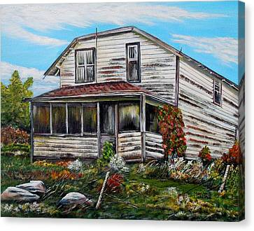 Haunted House Canvas Print - This Old House 2 by Marilyn  McNish