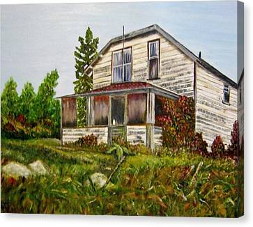 Haunted House Canvas Print - This Old House by Marilyn  McNish
