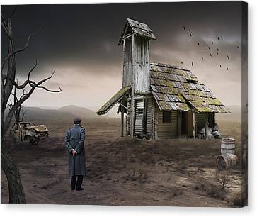 Canvas Print featuring the mixed media This Old House by Marvin Blaine
