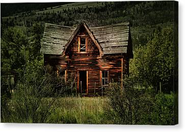 Cabin Window Canvas Print - This Old House by Naman Imagery