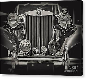 This Old Mg In Black And White Canvas Print by Emily Kay