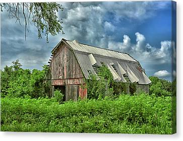 This Old Red Barn Canvas Print
