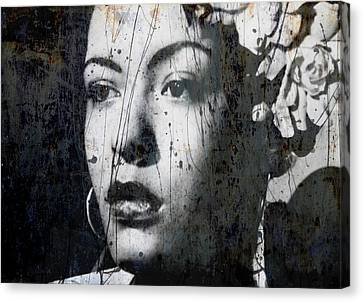 Canvas Print featuring the mixed media This Ole Devil Called Love  by Paul Lovering