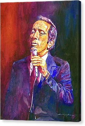 This Song Is For You - Andy Williams Canvas Print by David Lloyd Glover